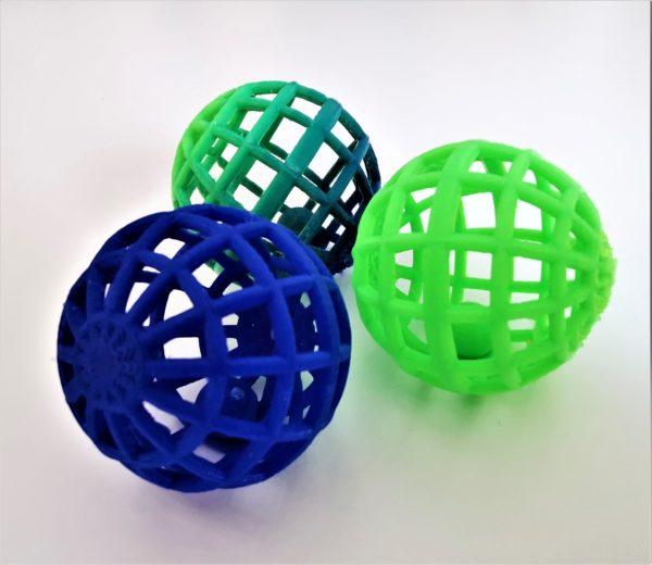 balles bleu vert